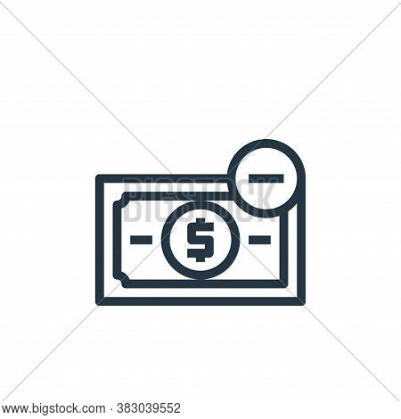 loss icon isolated on white background from business money and communication collection. loss icon t