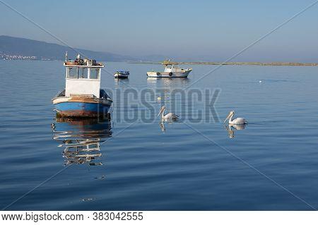 August 2020. Izmir Turkey. Izmir Coast And Fishing Boats. Editorial Photography.