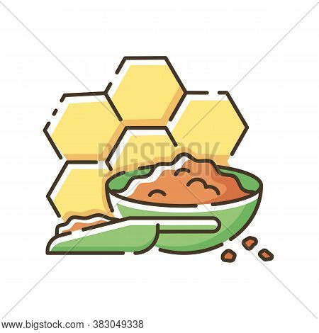 Propolis Rgb Color Icon. Valuable Bee Product, Natural Antibiotic. Beekeeping, Apiculture. Organic I