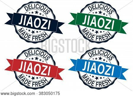 Stamp Set Jiaozi Art Vector Icon For Food Apps And Websites