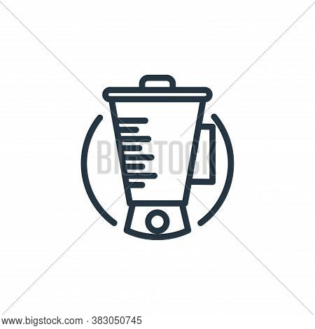 blender icon isolated on white background from electrical appliances collection. blender icon trendy