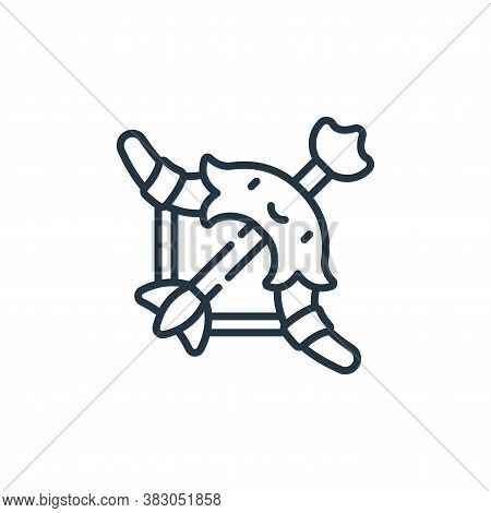 bow icon isolated on white background from videogame elements collection. bow icon trendy and modern