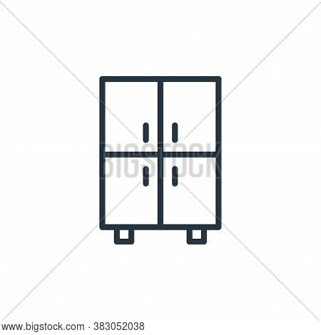 cupboard icon isolated on white background from office collection. cupboard icon trendy and modern c