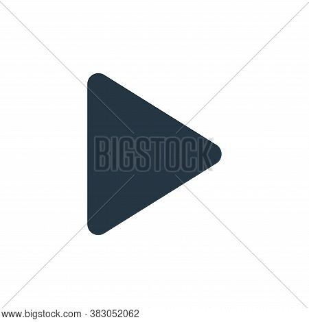 play button icon isolated on white background from sosmed collection. play button icon trendy and mo