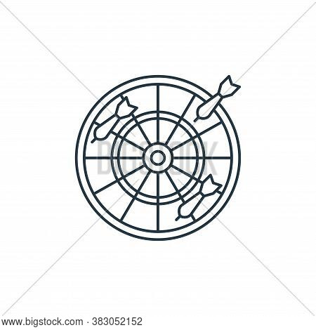 dartboard icon isolated on white background from carnival collection. dartboard icon trendy and mode
