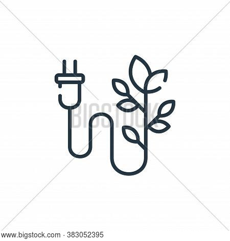 plug icon isolated on white background from ecology collection. plug icon trendy and modern plug sym