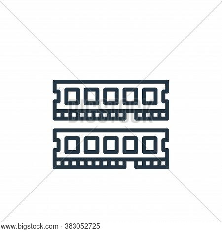 ram icon isolated on white background from computer hardware collection. ram icon trendy and modern