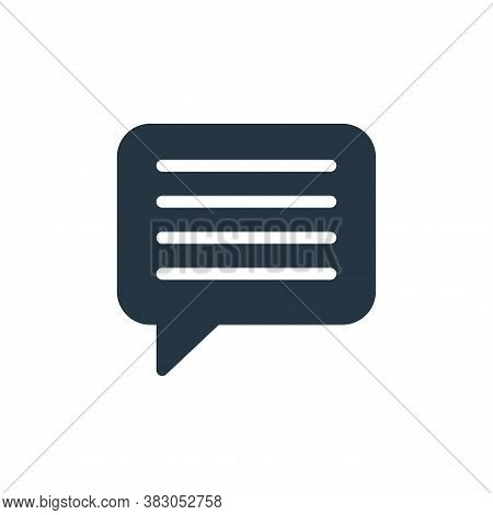 chat box icon isolated on white background from sosmed collection. chat box icon trendy and modern c
