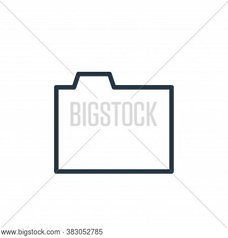 folder icon isolated on white background from working in the office collection. folder icon trendy a