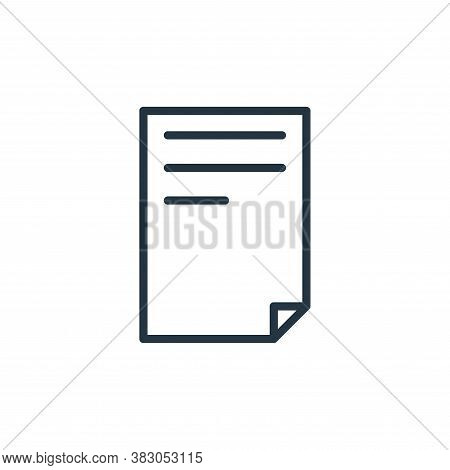 file icon isolated on white background from office collection. file icon trendy and modern file symb
