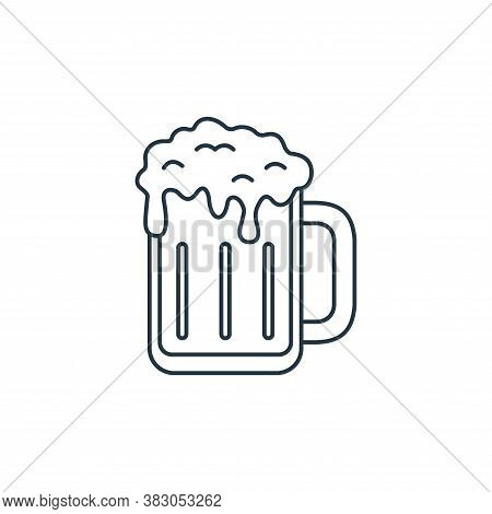 beer mug icon isolated on white background from carnival collection. beer mug icon trendy and modern