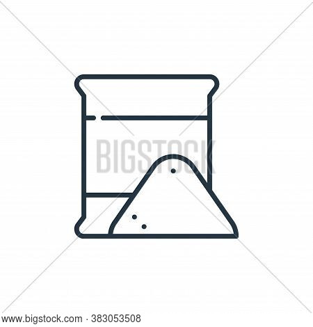 flour icon isolated on white background from food and drinks allergy collection. flour icon trendy a