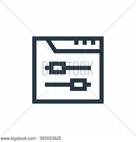 control icon isolated on white background from web maintenance collection. control icon trendy and m