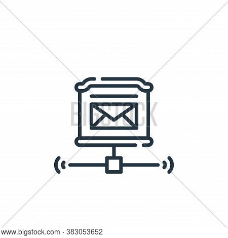 postbox icon isolated on white background from smart city collection. postbox icon trendy and modern