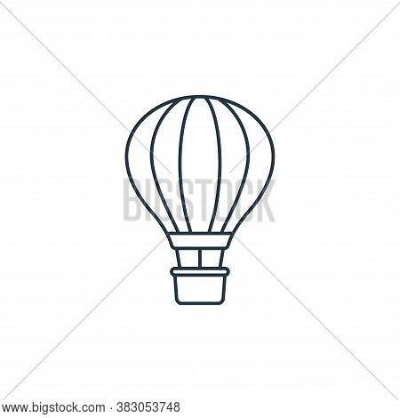 hot air balloon icon isolated on white background from carnival collection. hot air balloon icon tre