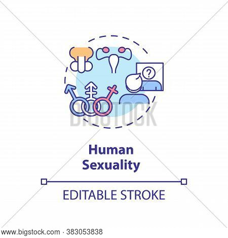 Human Sexuality Concept Icon. Physiological And Psychological Aspects Of Sexual Education. Self Iden