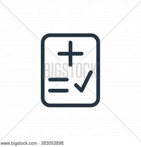 check icon isolated on white background from medicine collection. check icon trendy and modern check