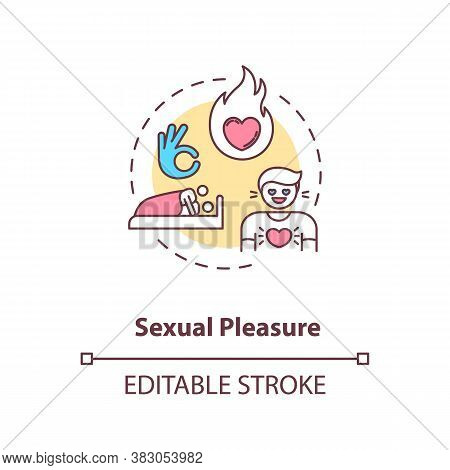 Sexual Pleasure Concept Icon. Physical Attraction, Human Biology, Intimacy. Sex Education, Reproduct