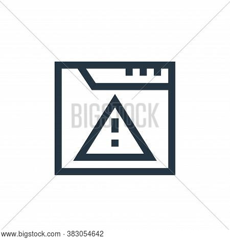 alert icon isolated on white background from web maintenance collection. alert icon trendy and moder