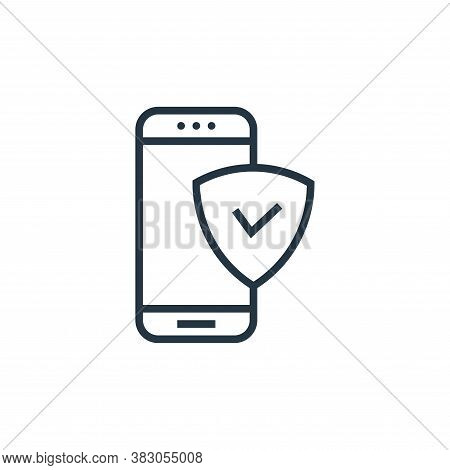 security icon isolated on white background from banking collection. security icon trendy and modern