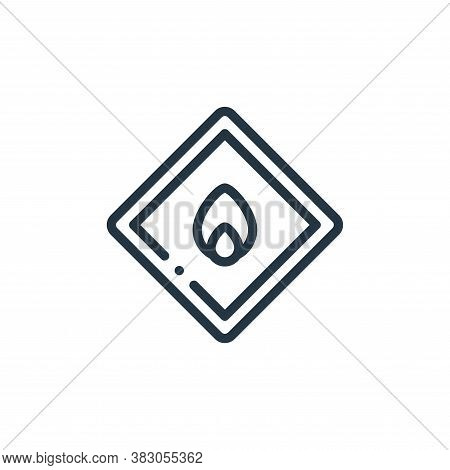 fire icon isolated on white background from laboratory collection. fire icon trendy and modern fire