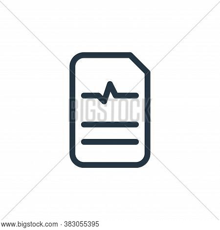 report icon isolated on white background from medicine collection. report icon trendy and modern rep