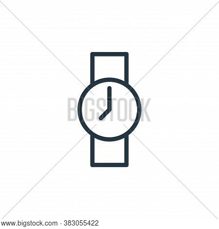 watch icon isolated on white background from working in the office collection. watch icon trendy and