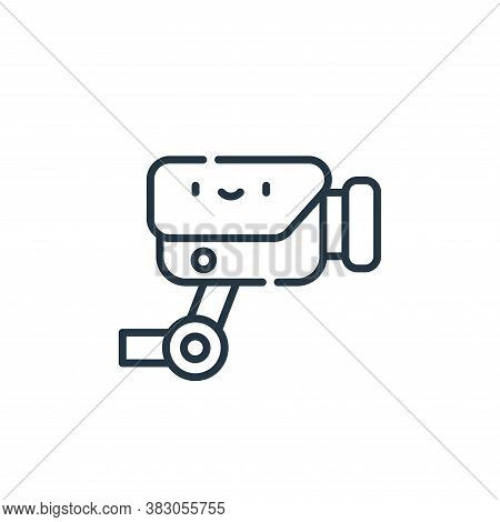 cctv icon isolated on white background from cyber security collection. cctv icon trendy and modern c