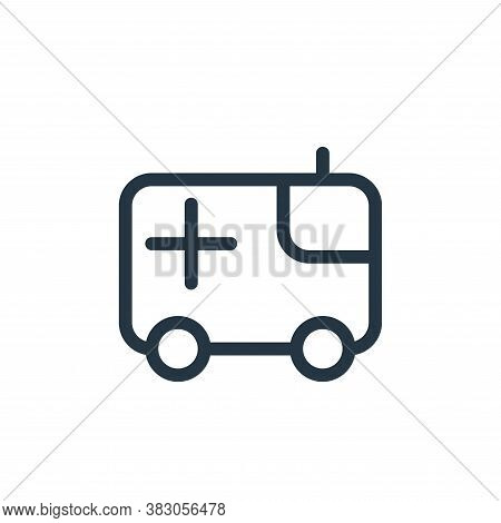 ambulance icon isolated on white background from medicine collection. ambulance icon trendy and mode