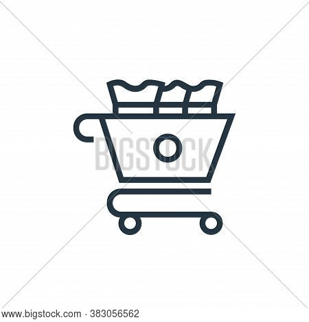 chart icon isolated on white background from banking collection. chart icon trendy and modern chart