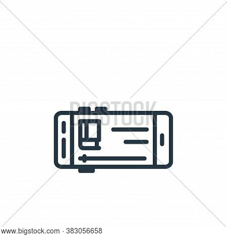 video tutorials icon isolated on white background from online learning part line collection. video t