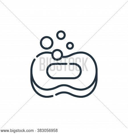 soap icon isolated on white background from hygiene routine collection. soap icon trendy and modern