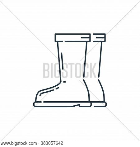 boot icon isolated on white background from labour day collection. boot icon trendy and modern boot