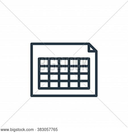 table icon isolated on white background from working in the office collection. table icon trendy and