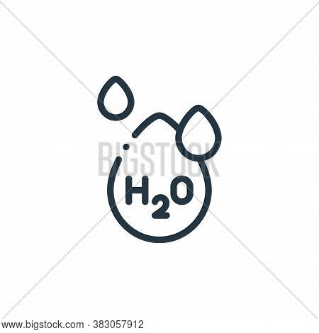 water icon isolated on white background from laboratory collection. water icon trendy and modern wat