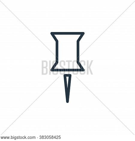 pin icon isolated on white background from working in the office collection. pin icon trendy and mod