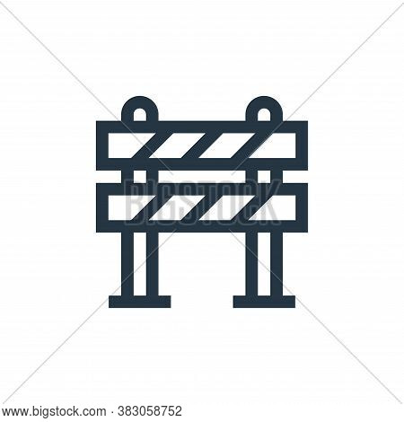 barrier icon isolated on white background from web maintenance collection. barrier icon trendy and m