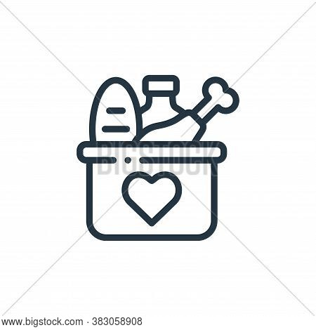 food donation icon isolated on white background from charity collection. food donation icon trendy a