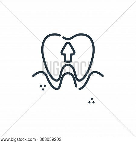 extraction icon isolated on white background from dentist collection. extraction icon trendy and mod