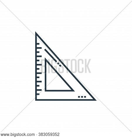 square ruler icon isolated on white background from school collection. square ruler icon trendy and