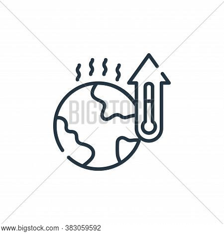 global warming icon isolated on white background from ecology collection. global warming icon trendy