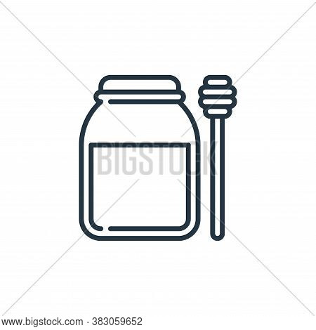 honey icon isolated on white background from food and drinks allergy collection. honey icon trendy a