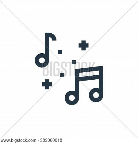 music icon isolated on white background from celebration collection. music icon trendy and modern mu