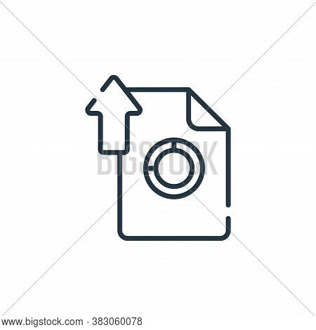 upload file icon isolated on white background from digital learning collection. upload file icon tre