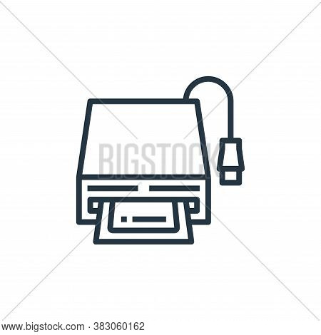Card Reader Icon From Computer Hardware Collection Isolated On White Background.