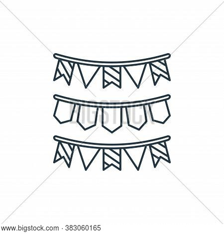 garlands icon isolated on white background from carnival collection. garlands icon trendy and modern