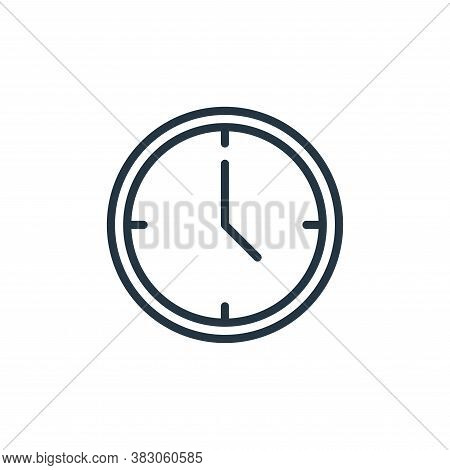 time icon isolated on white background from office collection. time icon trendy and modern time symb