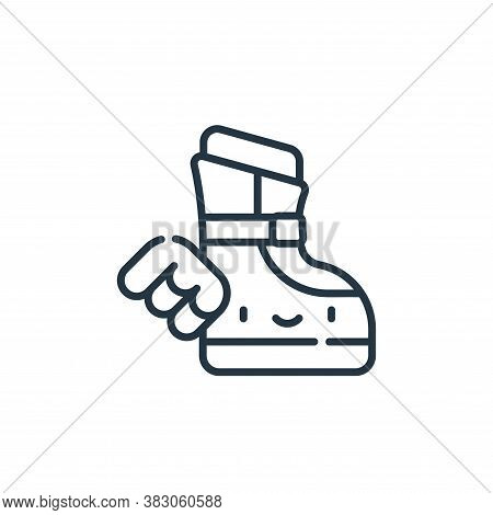magic boot icon isolated on white background from videogame elements collection. magic boot icon tre