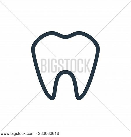 tooth icon isolated on white background from medicine collection. tooth icon trendy and modern tooth
