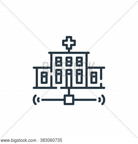hospital icon isolated on white background from smart city collection. hospital icon trendy and mode